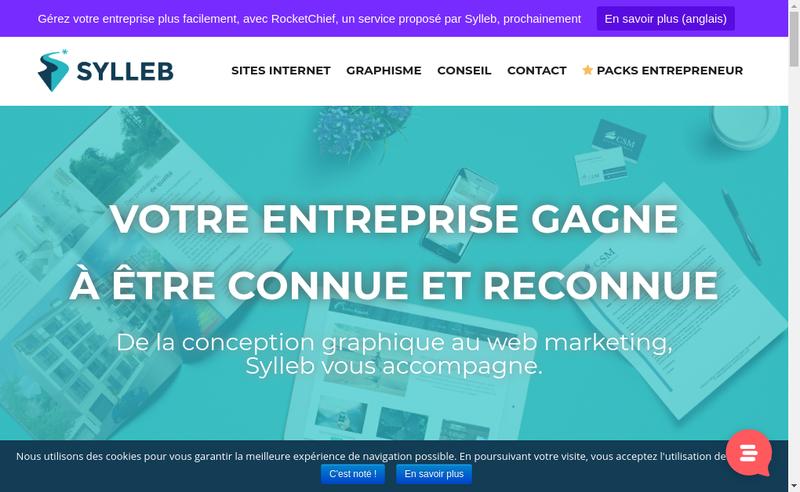 Capture d'écran du site de Sylleb