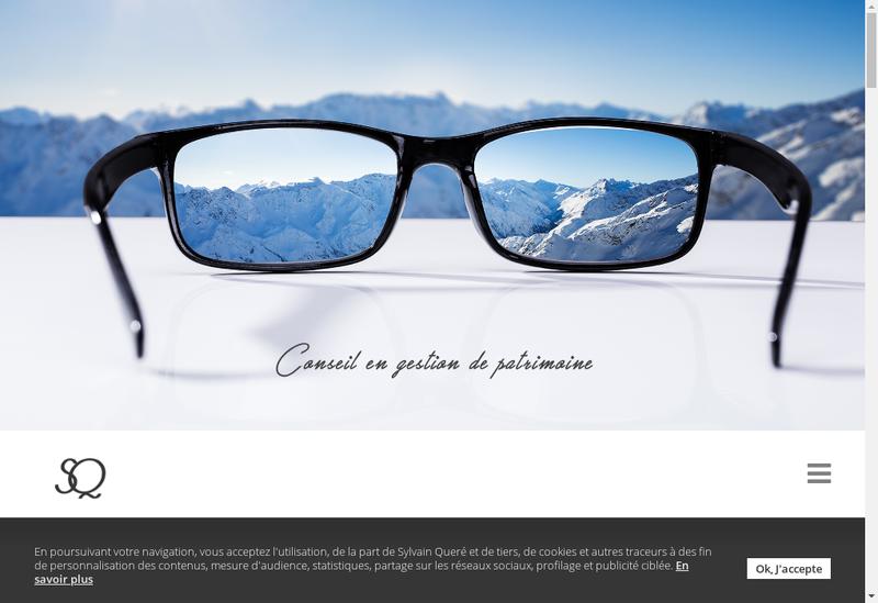 Capture d'écran du site de Sylvain Quéré