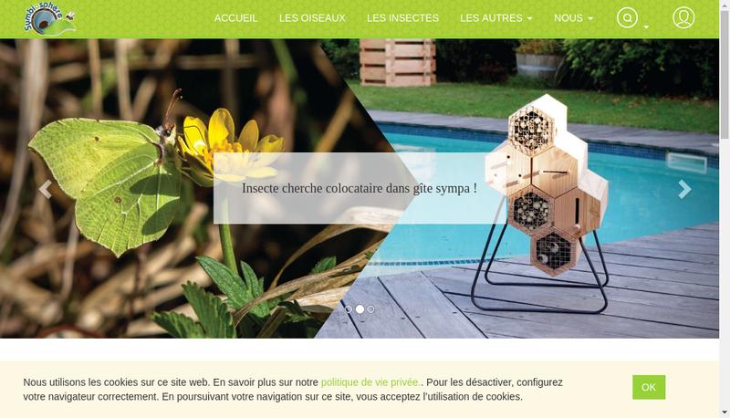 Capture d'écran du site de Symbiosphere