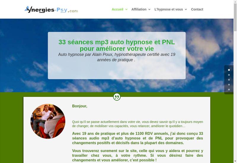 Capture d'écran du site de Alain Poux