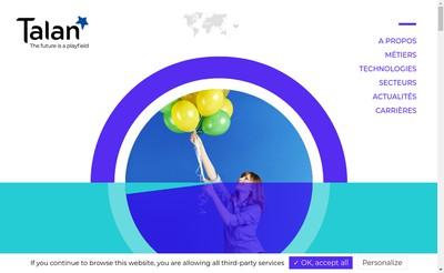 Site internet de Talan Consulting