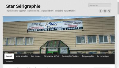 Capture d'écran du site de Star Serigraphie
