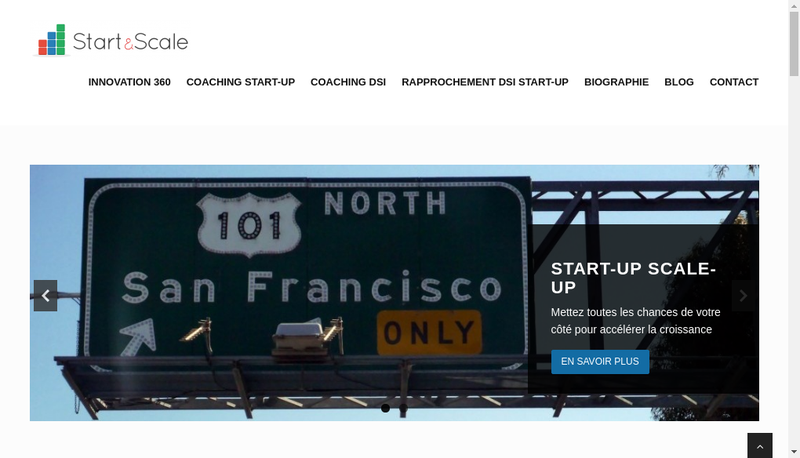 Capture d'écran du site de Start&Scale