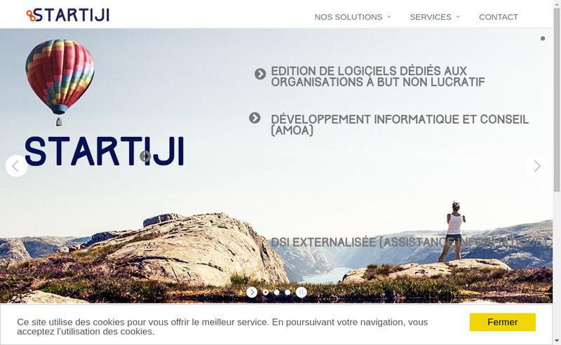Capture d'écran du site de Startiji