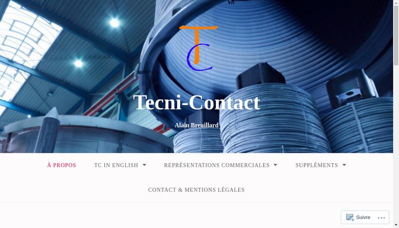 Capture d'écran du site de Tecni Contact