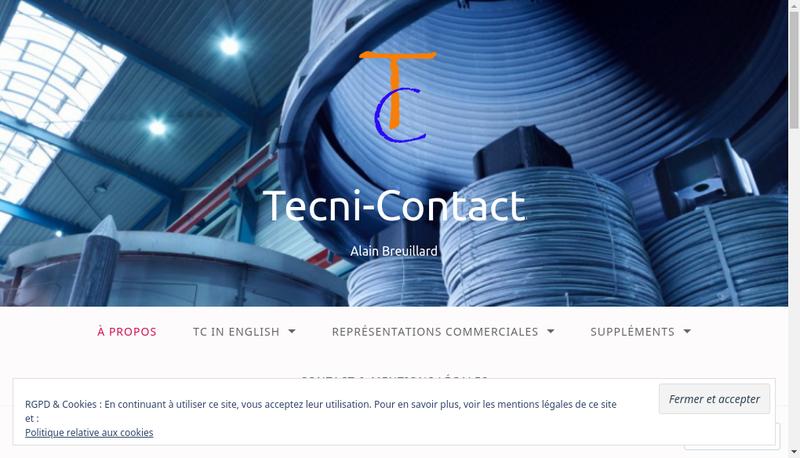 Capture d'écran du site de Tecni-Contact