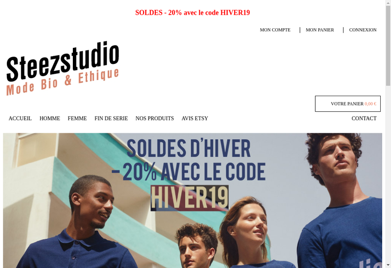Capture d'écran du site de Steezstudio