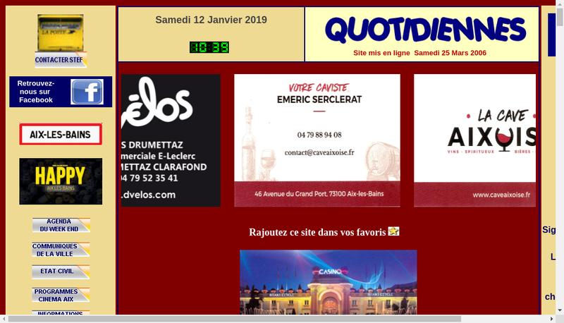 Capture d'écran du site de Christian Stefanini