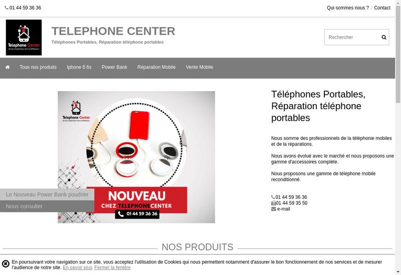Capture d'écran du site de COM