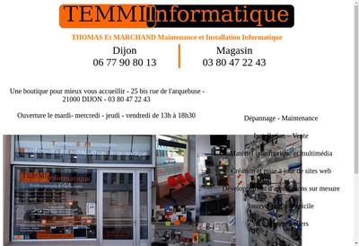 Site internet de Temmii Thomas et Marchand Maintenance et Installation Informatique
