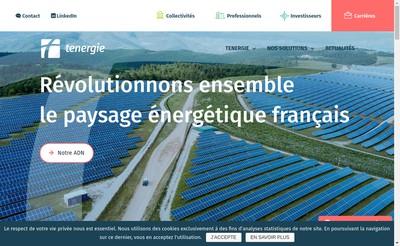 Site internet de Tenergie Developpement