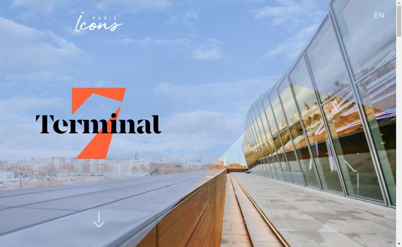 Capture d'écran du site de Terminal 7
