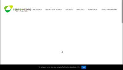 Capture d'écran du site de Maison de Retraite Terre Negre