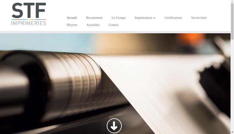 Capture d'écran du site de Imprimeries Ips