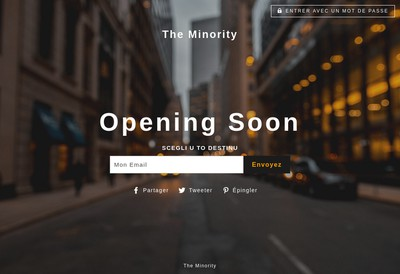 Site internet de The Minority