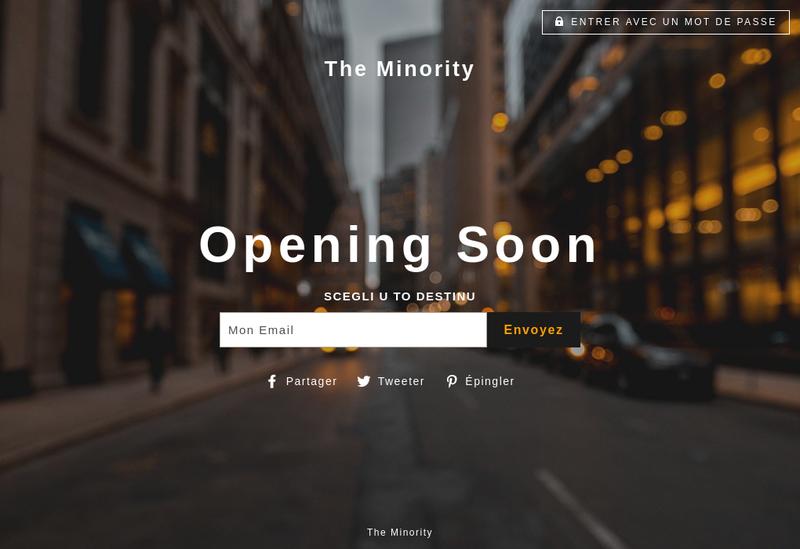 Capture d'écran du site de The Minority