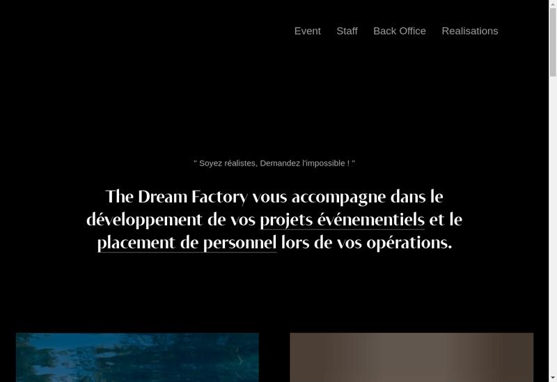 Capture d'écran du site de Dreamfactory France