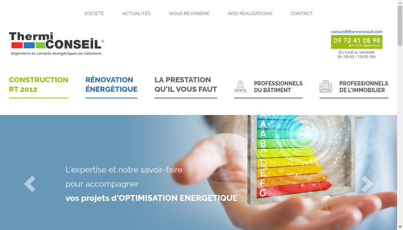 Capture d'écran du site de Thermiconseil France