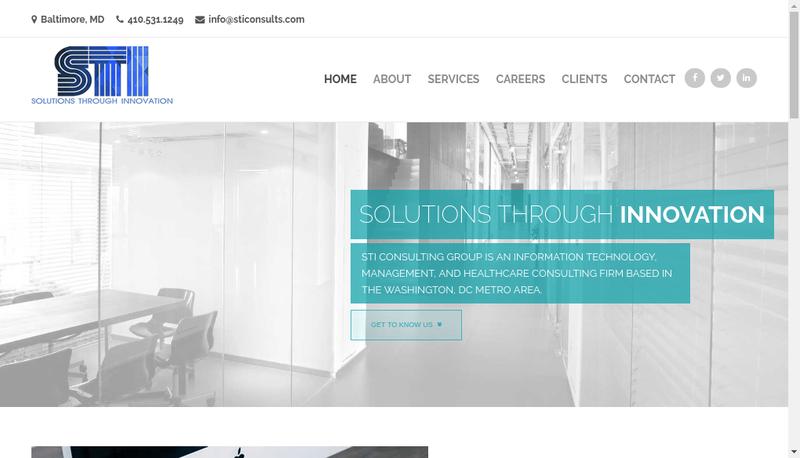Capture d'écran du site de Sti Consulting