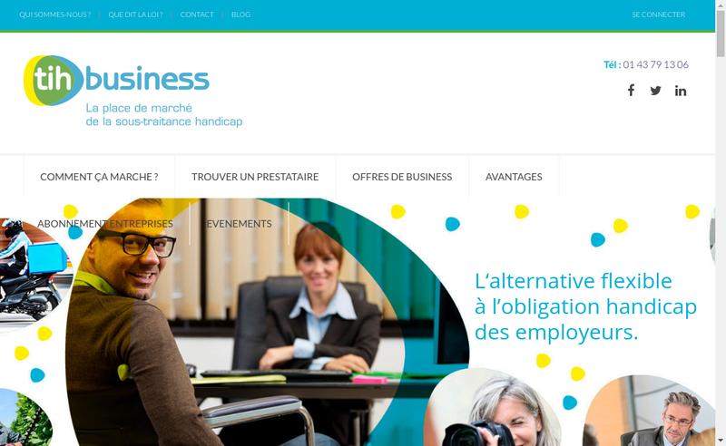 Capture d'écran du site de Tih Business