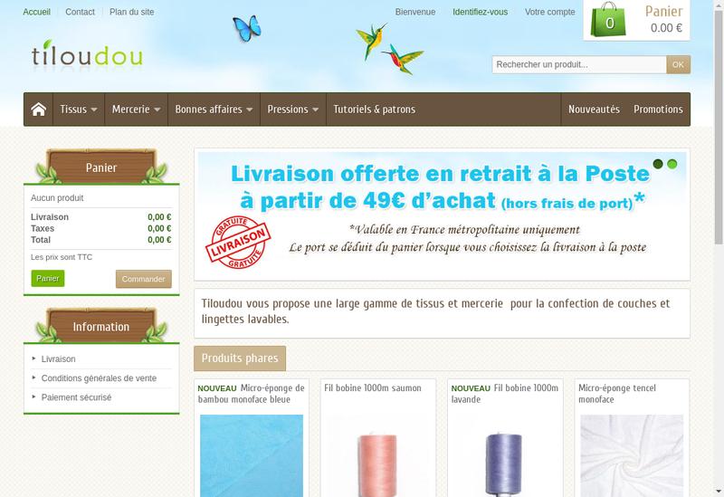 Capture d'écran du site de Tiloudou