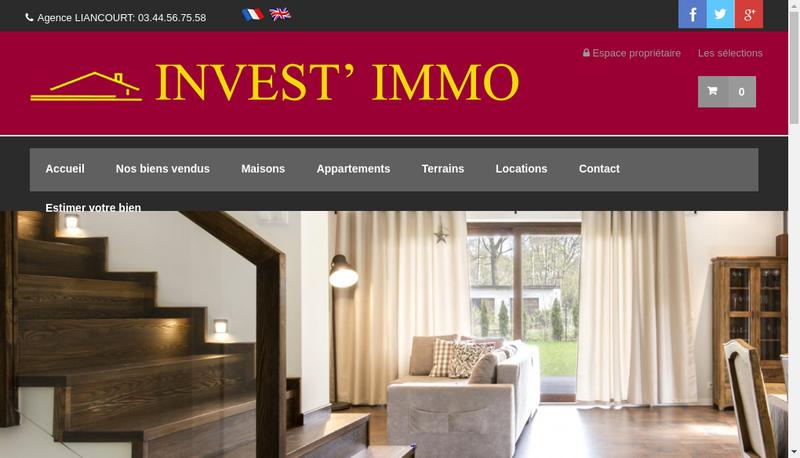 Capture d'écran du site de ST Investimmo