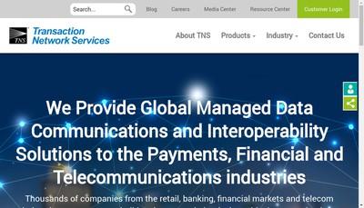 Site internet de Transaction Network Services