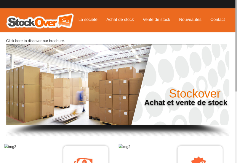 Capture d'écran du site de Stockover