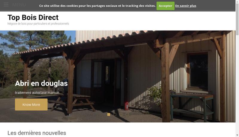 Capture d'écran du site de Top Bois Direct