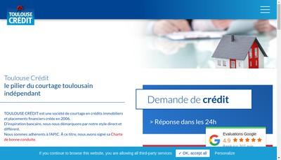 Site internet de Toulouse Credit
