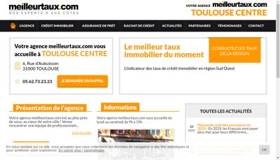 Capture d'écran du site de Toulouse Financement Immobilier