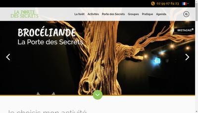 Site internet de Broceliande Developpement Tourisme