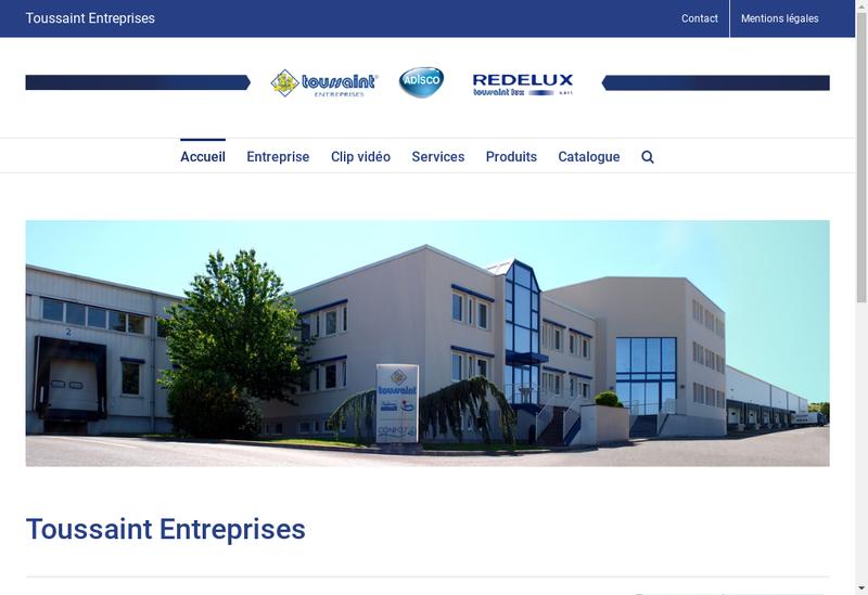 Capture d'écran du site de Toussaint SARL