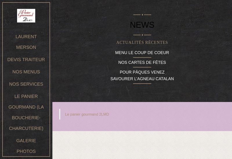 Capture d'écran du site de SARL Ldm