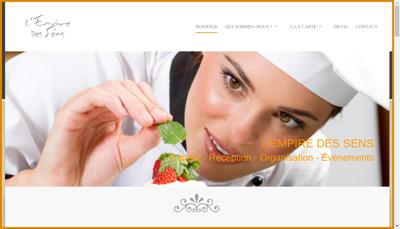 Capture d'écran du site de Leds Evenements