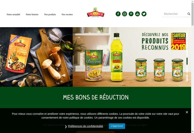 Capture d'écran du site de Borges Tramier