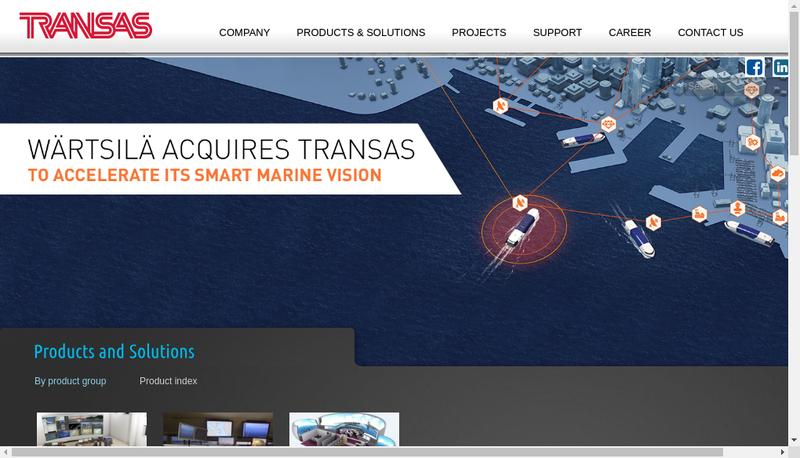 Capture d'écran du site de Transas Mediterranean SAS