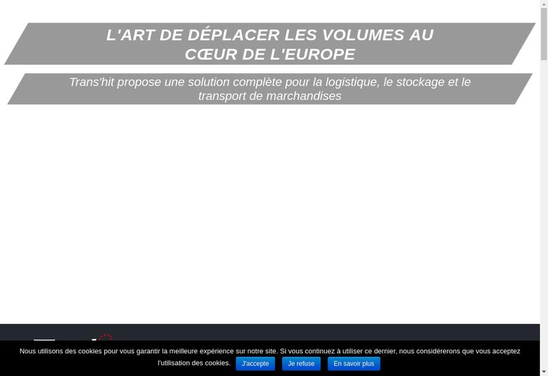 Capture d'écran du site de Trans Hit International