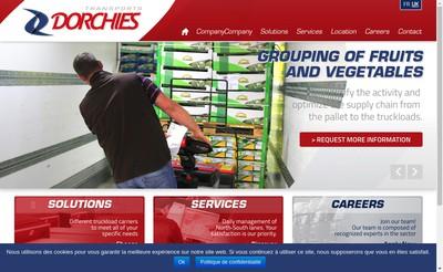 Site internet de Transports Dorchies