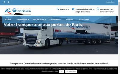 Site internet de Transports Granger