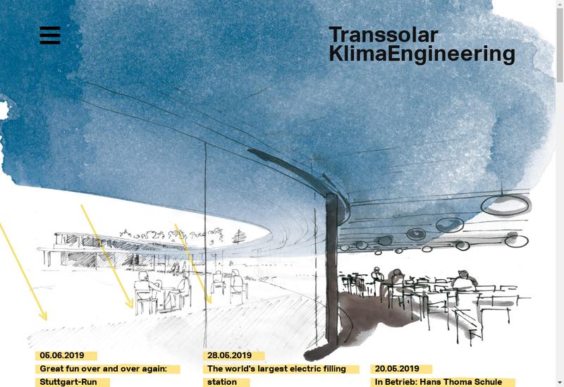 Capture d'écran du site de Transsolar