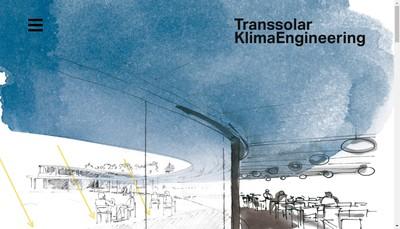 Site internet de Transsolar