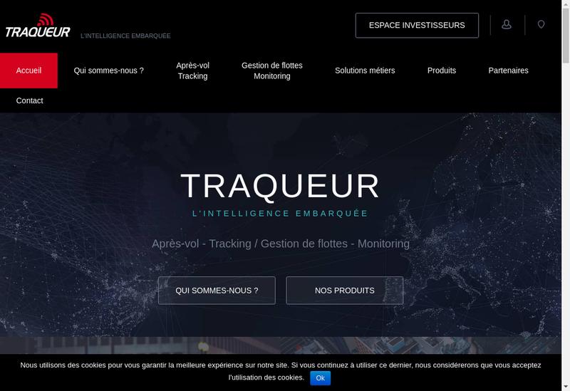 Capture d'écran du site de Traqueur
