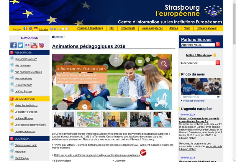 Capture d'écran du site de Strasbourg Europe Courtage
