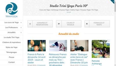 Site internet de Trini Yoga