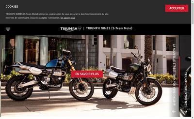 Site internet de Triumph Nimes - Technic Motos