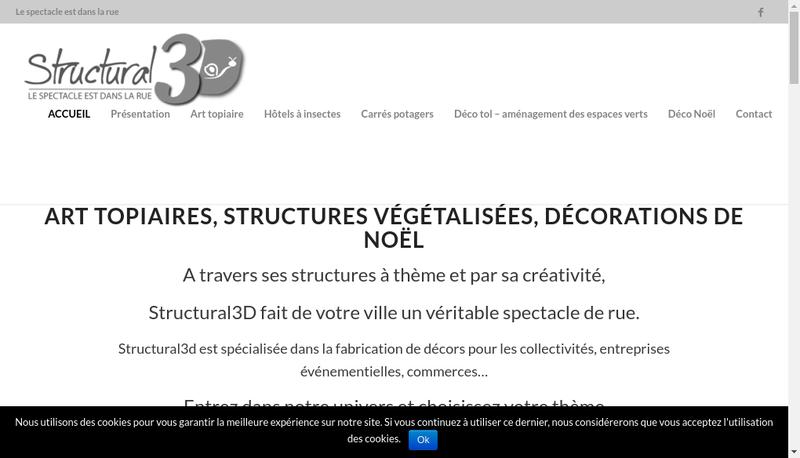 Capture d'écran du site de Structural 3D