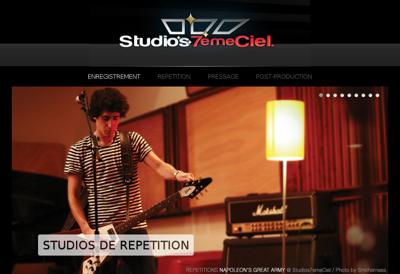 Capture d'écran du site de Studios 7 Eme Ciel
