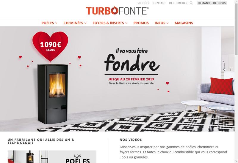 Capture d'écran du site de Turbo Fonte
