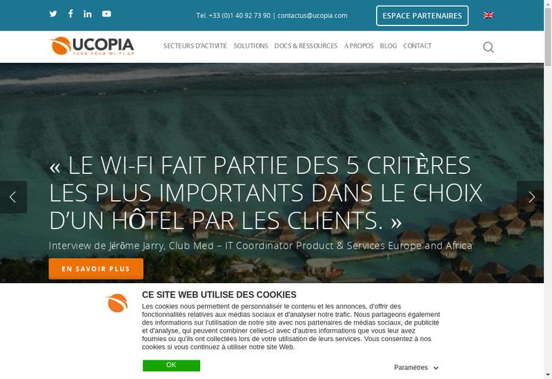 Capture d'écran du site de Ucopia